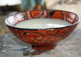 A bowl full of an indigenous drink called Chicha.